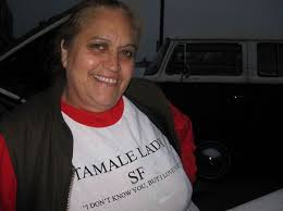 lady selling tamales